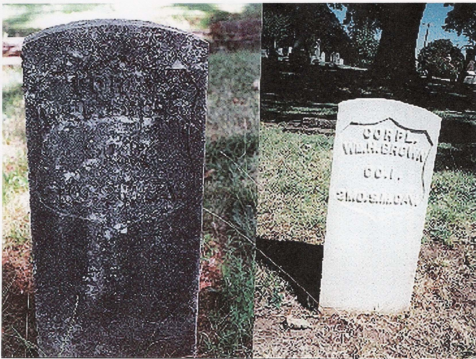 Cleaning Marble Headstones : Headstone restoration