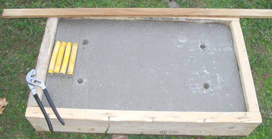 how to make a headstone out of concrete